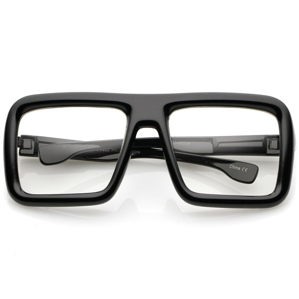 Oversize Bold Thick Frame Clear Lens Square Eyeglasses 58mm Retro Eyeglasses Eyeglasses Mens Glasses