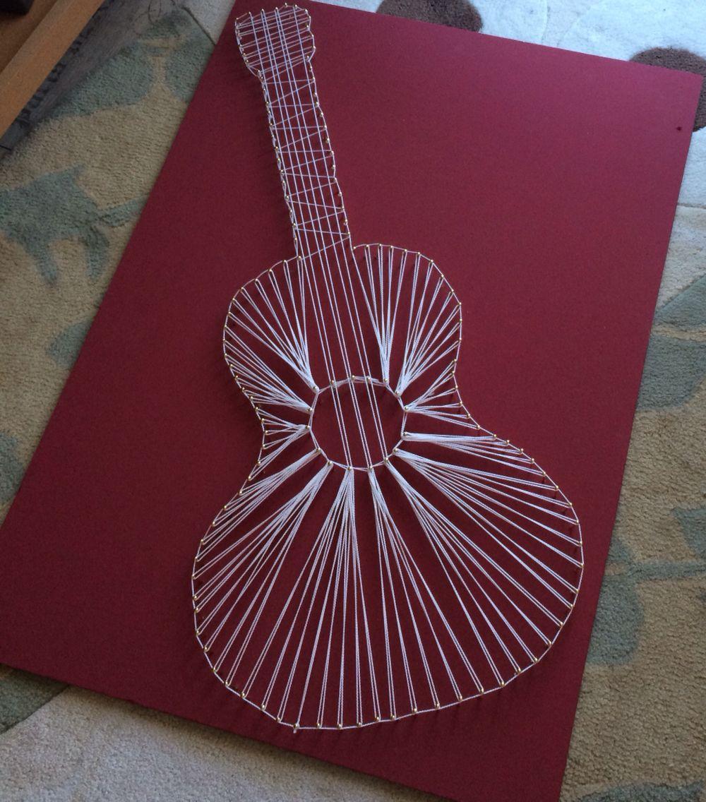 Guitar String Art als Geschenk für einen Gitarristen