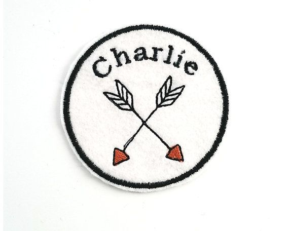 Custom Name Patch/Personalised Embroidered Patch/Adventure Patch/Kids Patch/Arrows/Warrior  Patch/Iron on Patch/Wool Felt