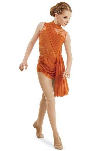 192a73e79006 Mock Neck Side Skirt Drape Leotard | Weissman® | Lyrical Costumes in 2019 | Dance  costumes lyrical, Dance costumes, Leotards