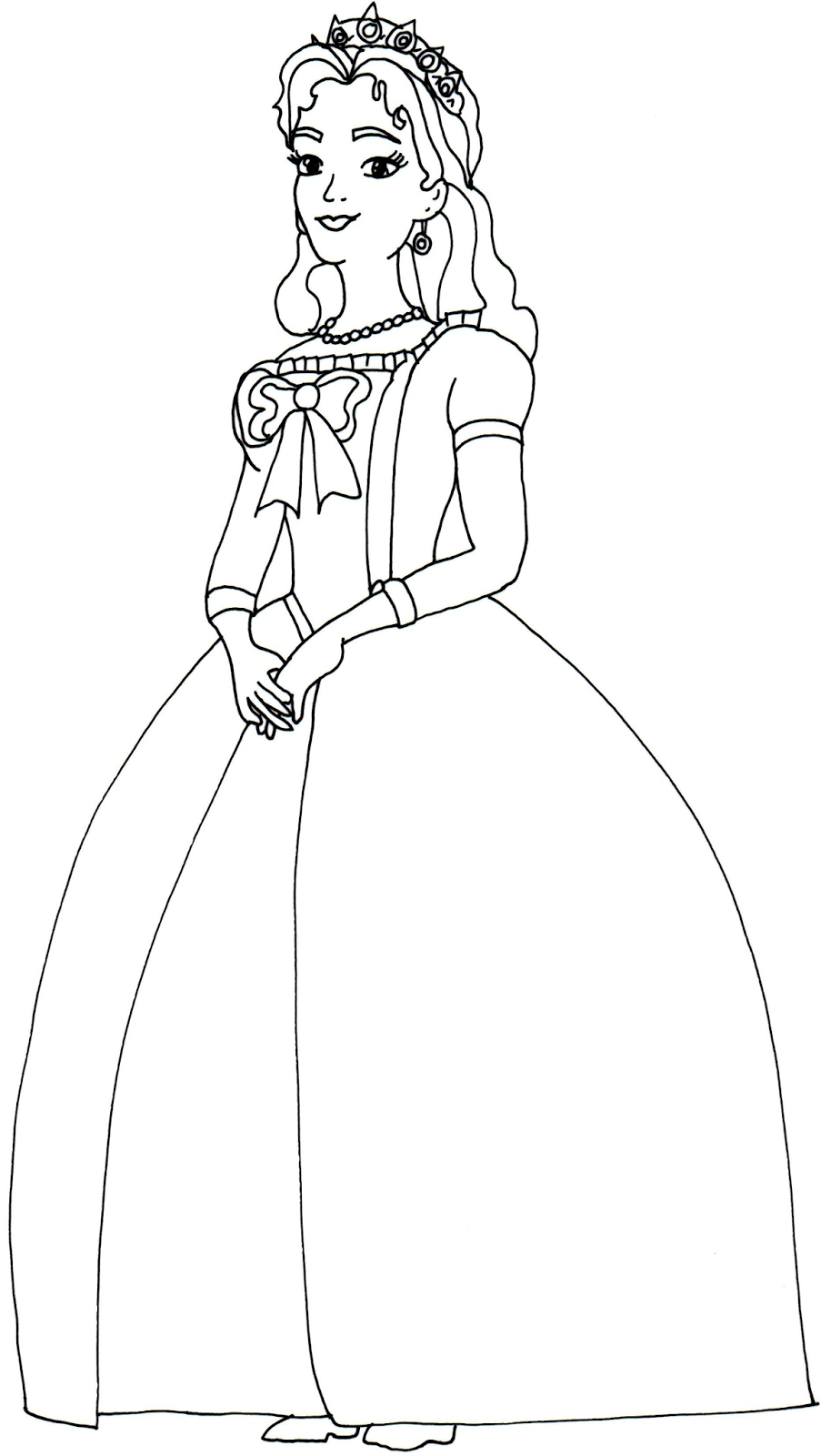 Queen Miranda Sofia The First Coloring Page Mom Coloring Pages Princess Coloring Pages Disney Coloring Pages