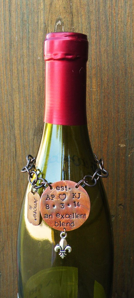 Wedding Liquor Tag Label. Gift for Husband on Wedding Day