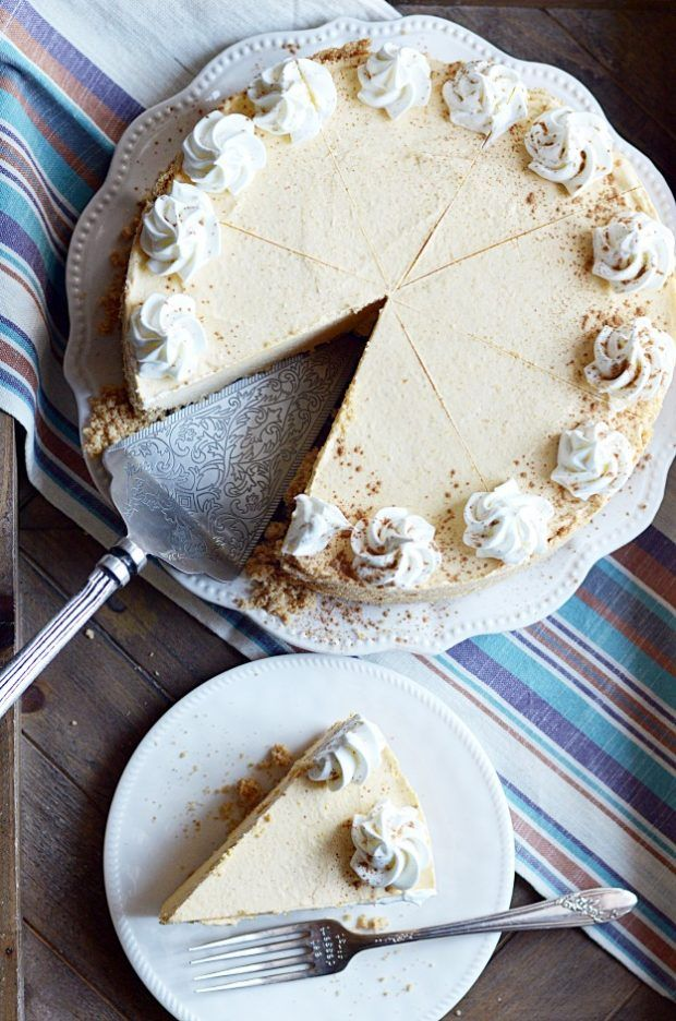 Easy, creamy, delicious no-bake pumpkin cheesecake with a thick, buttery graham cracker crust. Easy to make, easy to eat!