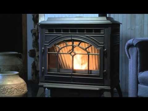 Quadra Fire Mt Vernon E2 Pellet Stove Video