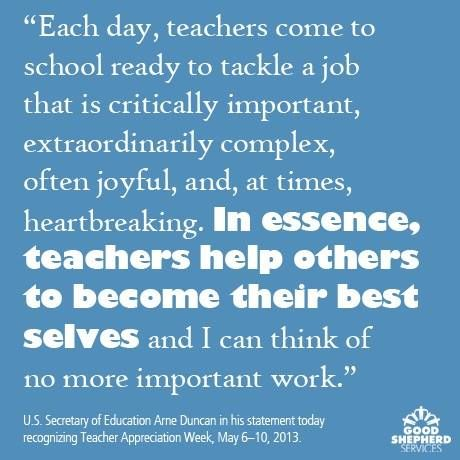 The importance of being a teacher