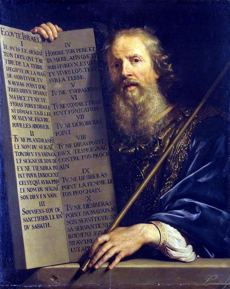 Catholic Answers Zehn Gebote Ol Auf Leinwand Alte Meister