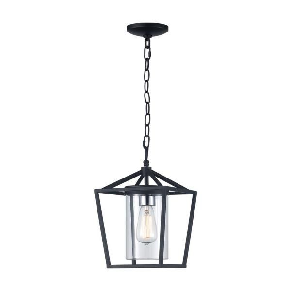 Monteaux Lighting Monteaux 1 Light Black Outdoor Pendant With Clear Glass Rs20180927 2 H The Home In 2020 Outdoor Pendant Hanging Porch Lights Outdoor Hanging Lights