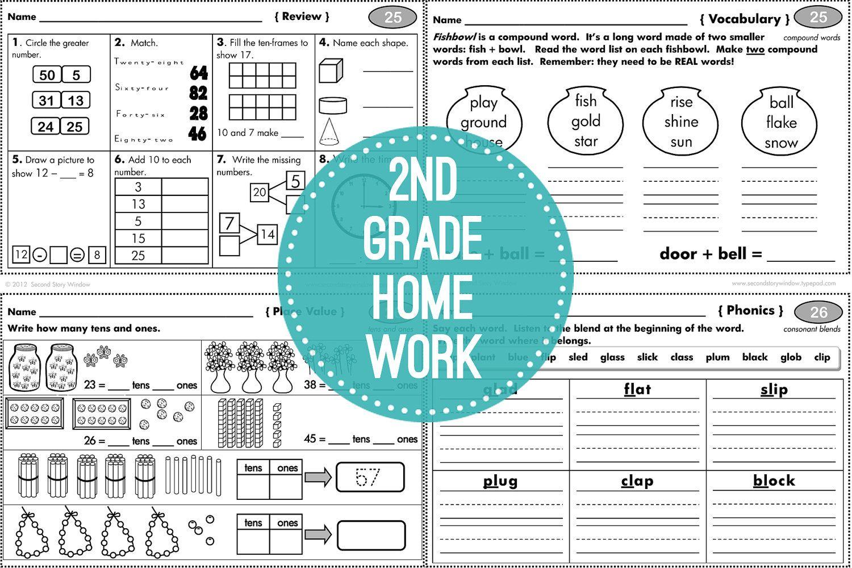 2nd Grade Common Core Homework
