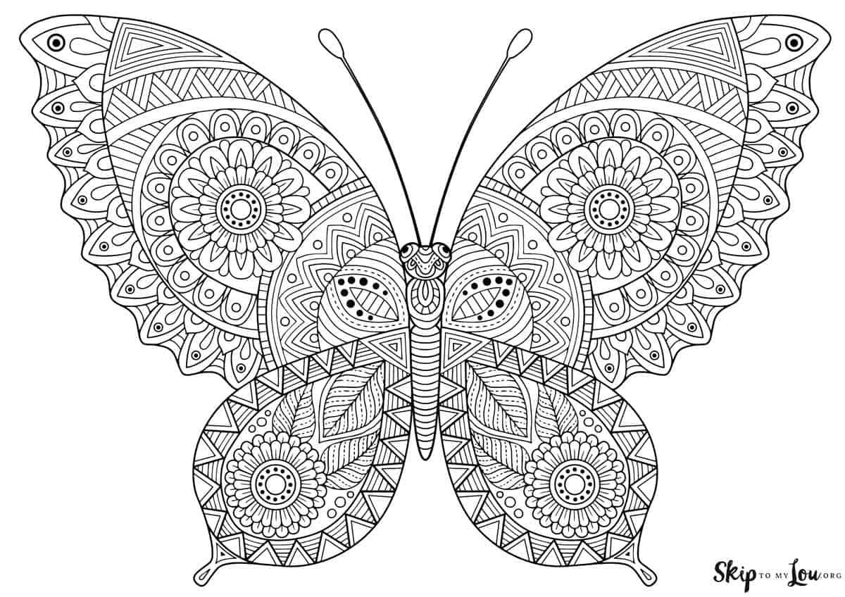 Free Printable Butterfly Coloring Page Butterfly Coloring Page Mandala Coloring Pages Butterfly Coloring