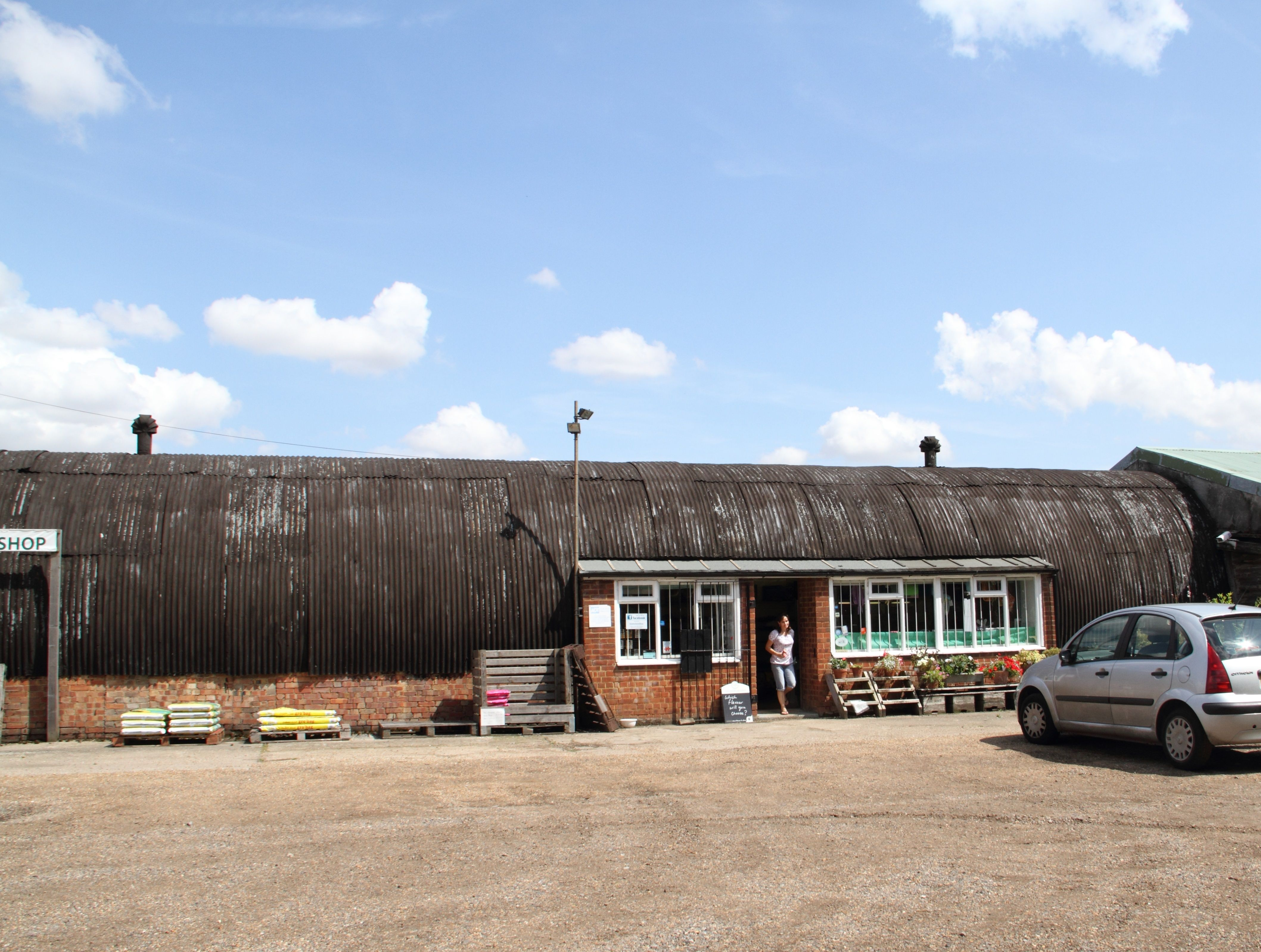 Sarah s farm shop at Steeple Morden Possible old airfield Nissan