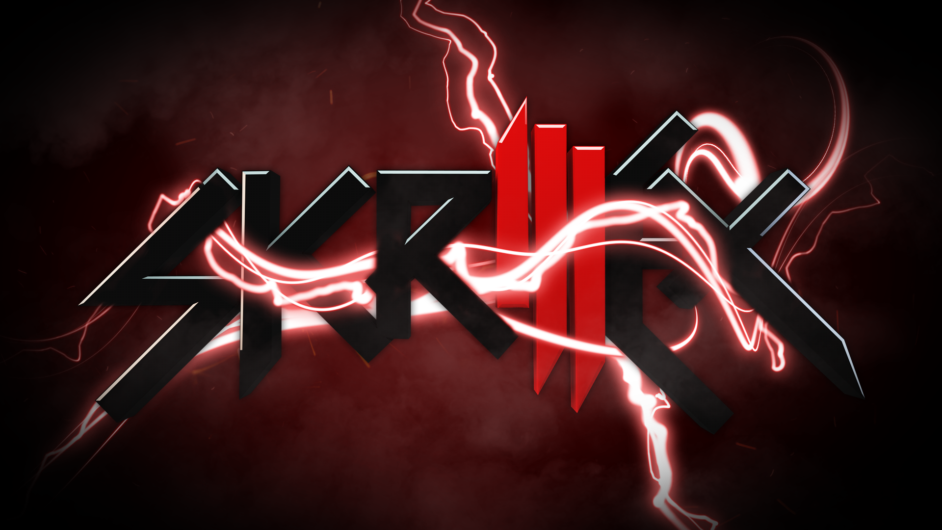 Animation Skrillex Logo Lightning HD Wallpapers Widescreen