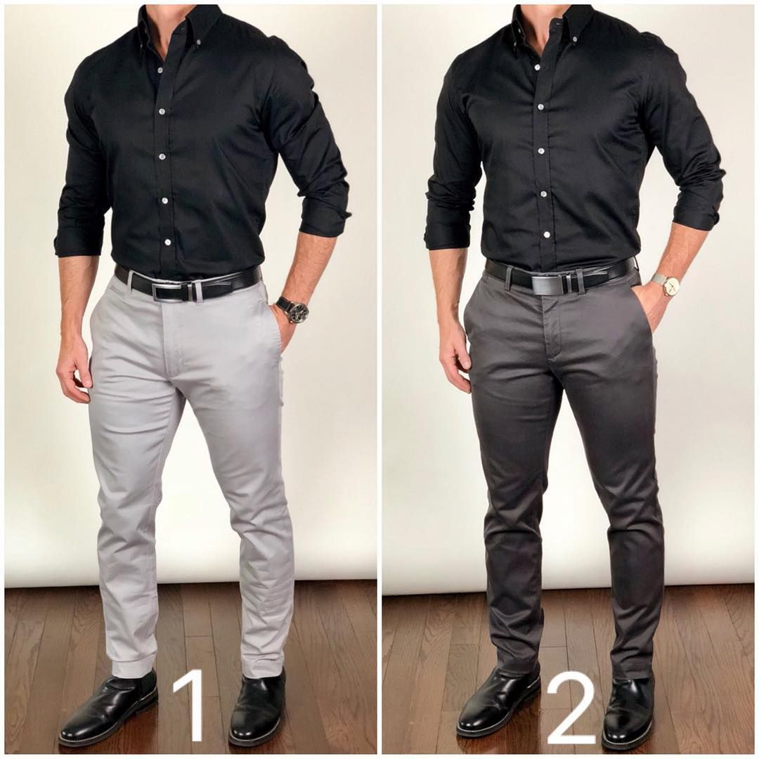 Chris Mehan Chrismehan Instagram Which Color Pants Do You Like Better With This Black Shirt Light Black Shirt Outfit Men Shirt Outfit Men Pants Outfit Men [ 1080 x 1080 Pixel ]