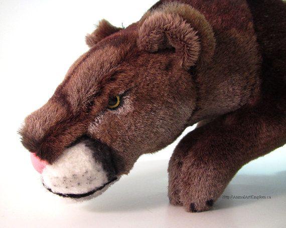 Handmade Cougar Puma Mountain Lion Plush Stuffed Animal Toy