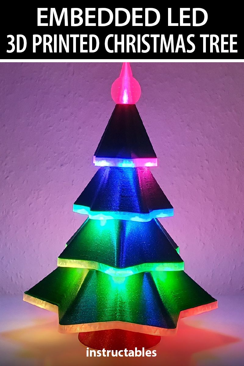 Embedded Led 3d Printed Christmas Tree 3d Printing Prints Christmas Tree
