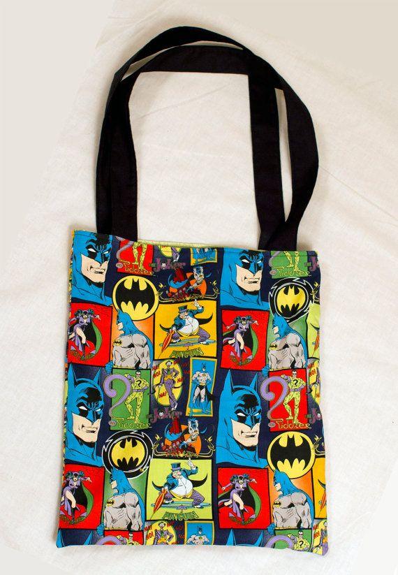 Batman Tote Bag By Mygeekyboyfriend On Etsy 18 00