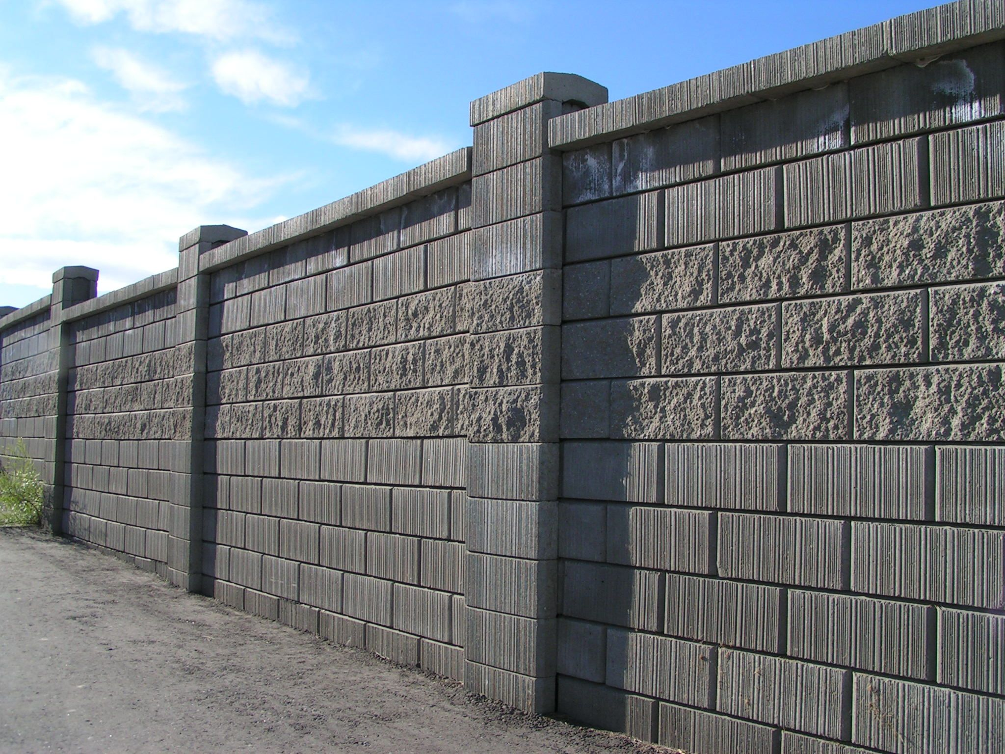 Gorgeous concrete block wall design gorgeous decorative for Wall design outside house