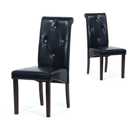 Warehouse of Tiffany Black Upholstered Dining Room Chairs (Set of 4