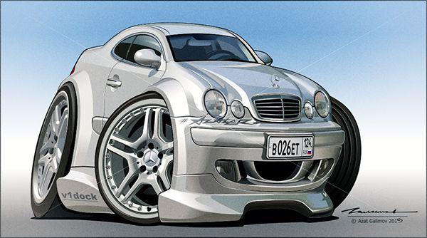 Mercedes-Benz. Artist - Azater. | Автомобили, Разное
