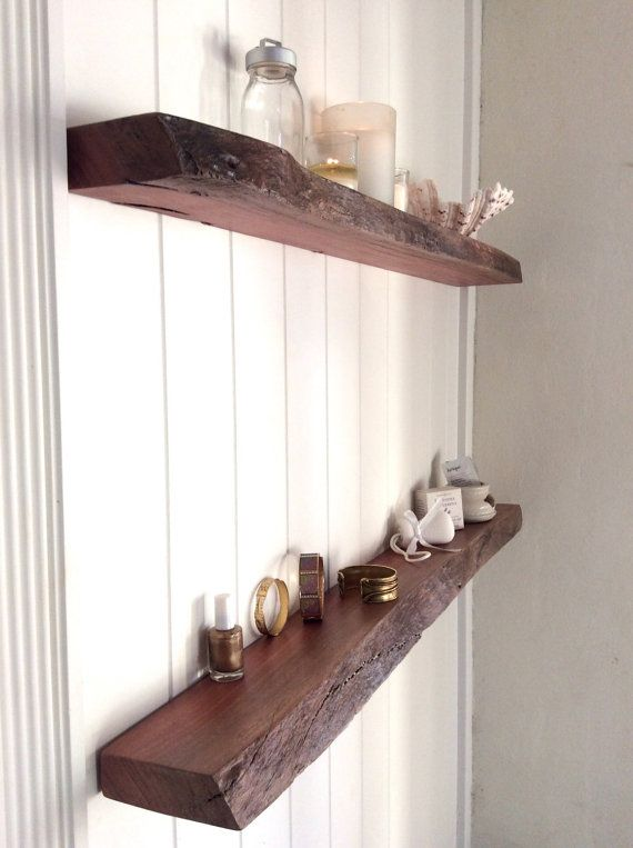 Floating Shelves Australia Set Of 2 Rustic Live Edge Narrow Wall