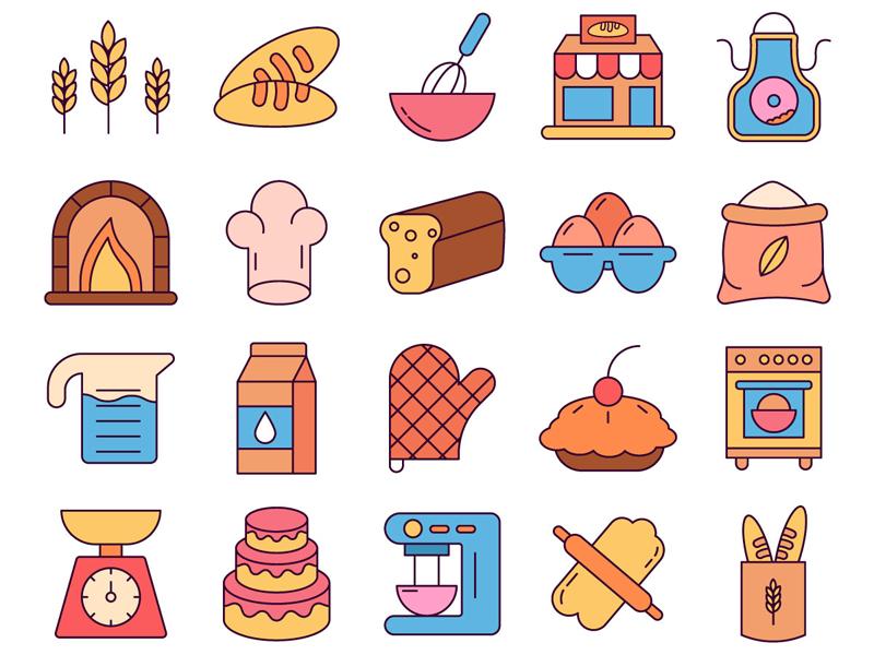 Bakery Vector Freebie Icon Set Free Icon Set Free Icons Bakery Icon