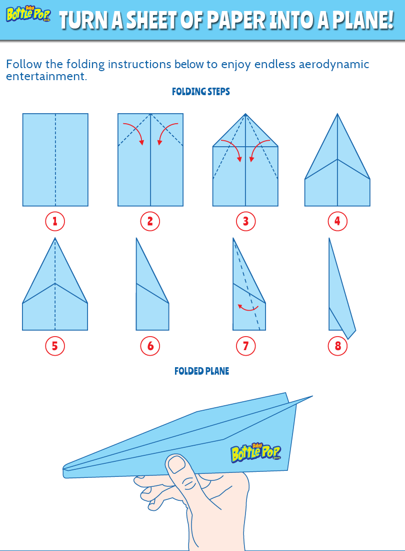 Accomplished image regarding paper airplane instructions printable