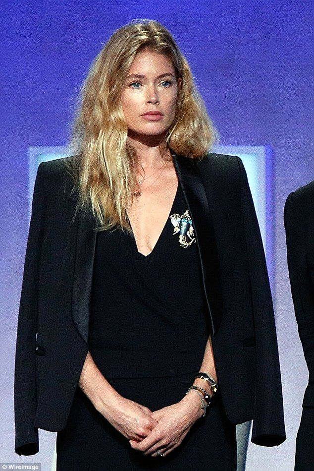 Big heart: In the summer, Doutzen travelled to France's Cote D'Azur region on behalf of Elephant Crisis Fund and Save The Elephants