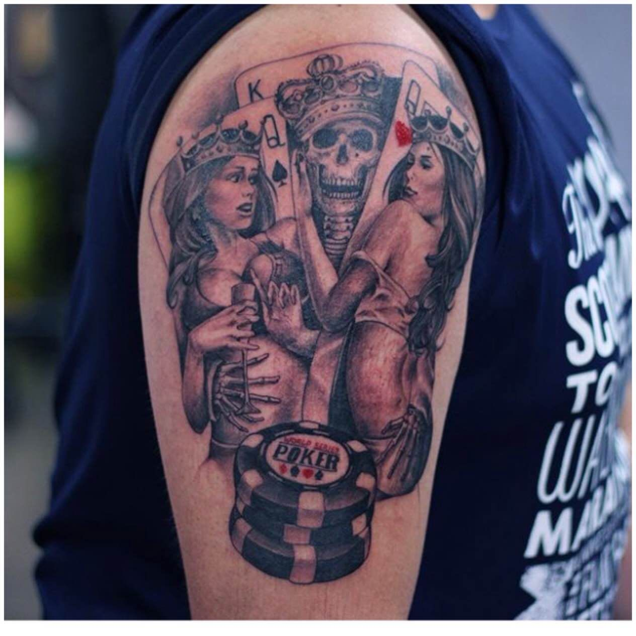 Top Skull King And Queen Tattoos Images For Pinterest