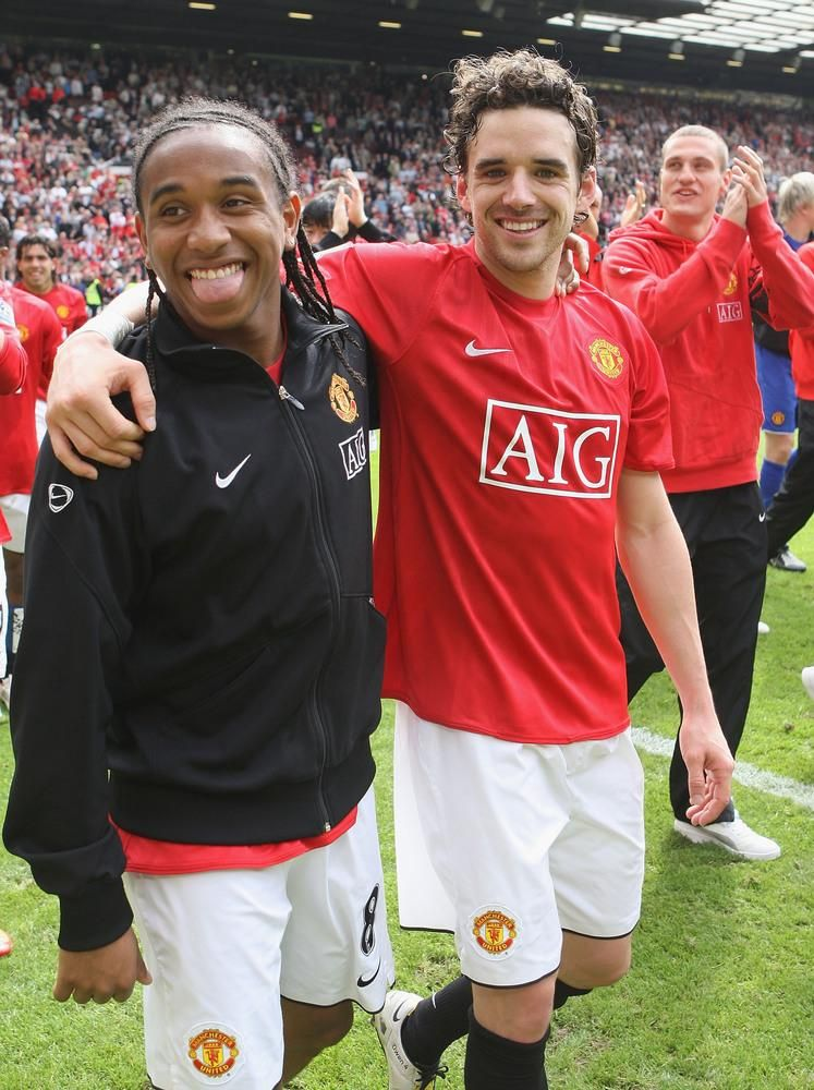 Anderson & Owen Hargreaves | Manchester united players, Manchester ...