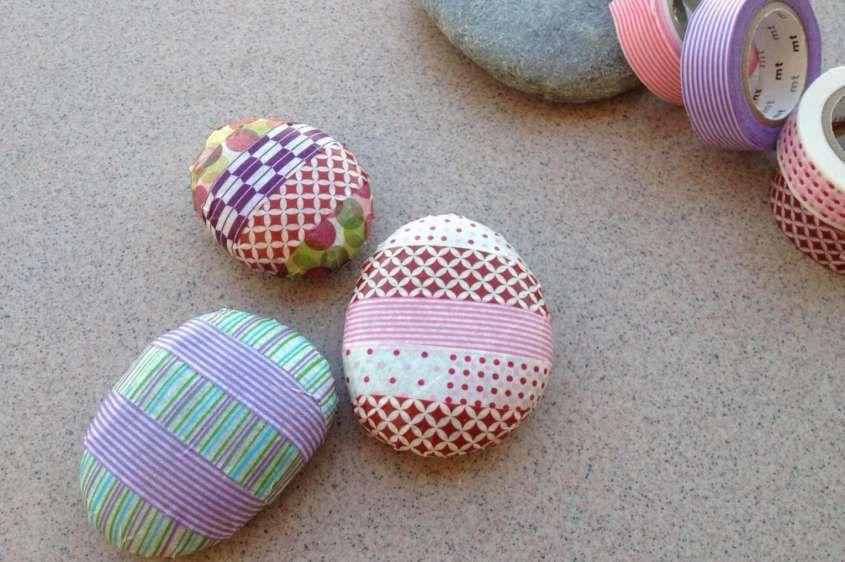 decorare casa con i sassi washi tape washi tape crafts