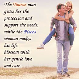 Taurus man in love with pisces woman