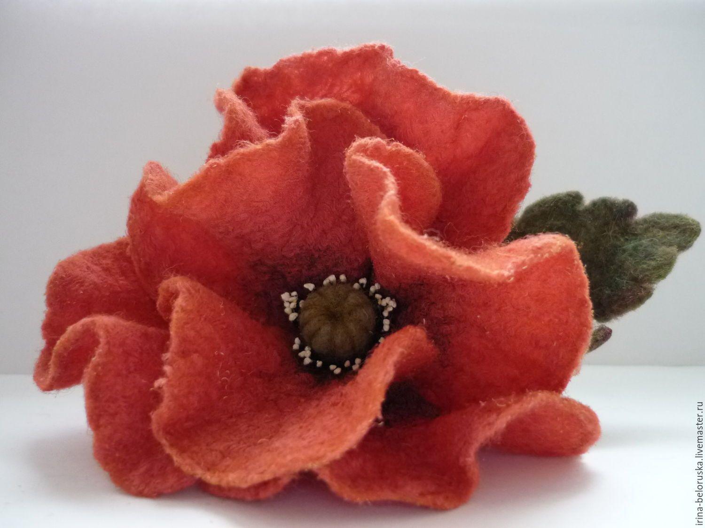Валяные цветы купить оптом, фаленопсис