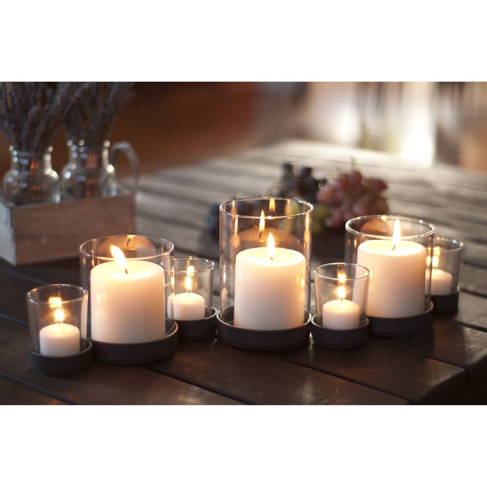 Rustic iron and glass multiple candle holder overstock shopping