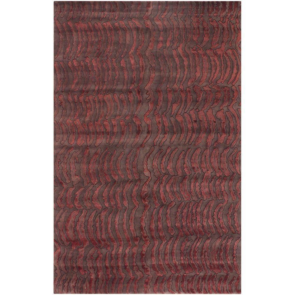 Julie Cohn Red/Brown 9 ft. x 13 ft. Area Rug, Red-Brown