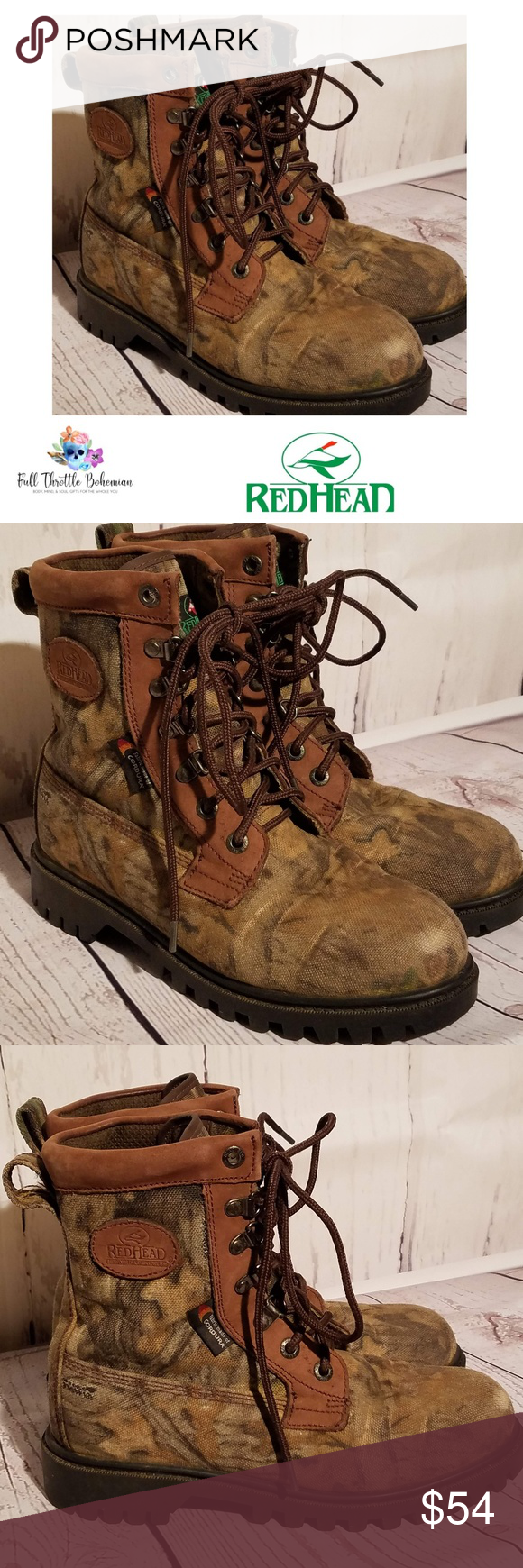 newest 89fa1 9844e RedHead Expedition Hunting Boots Mens 5.5M RedHead ...