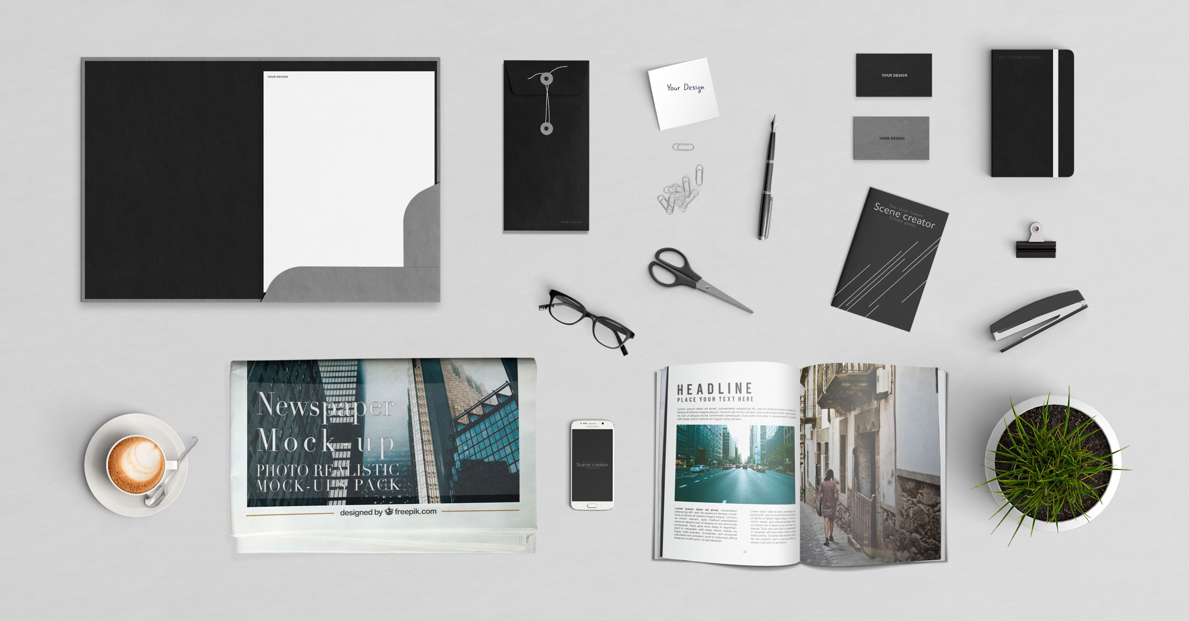A Huge Compilation of 105 Free Mockups (Part 3)! :) Available in PSD ...