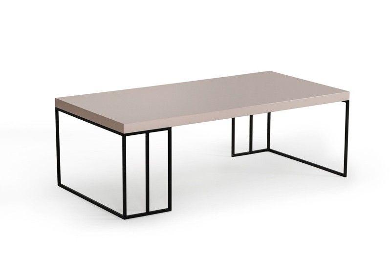 VIG Furniture Modrest Hope Modern Grey Gloss Coffee Table