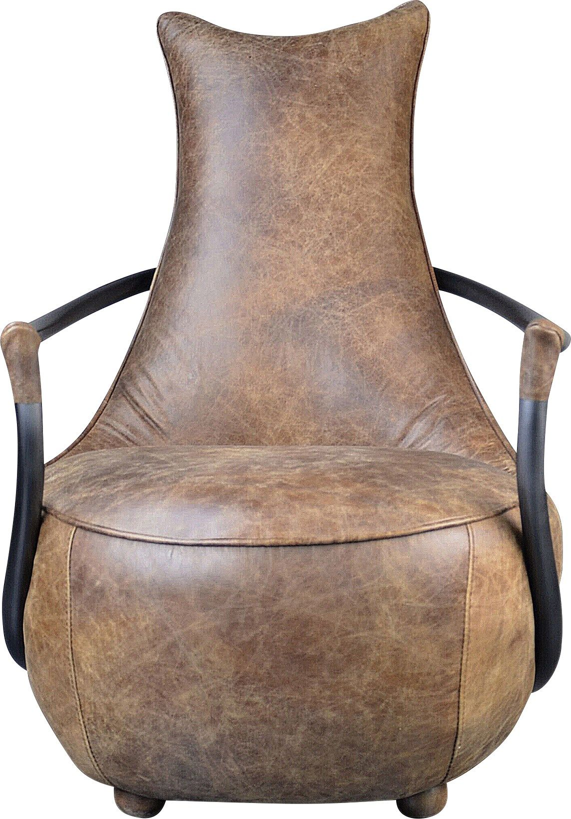 Best Canal Park Brown Leather Accent Chair Leather Accent 400 x 300