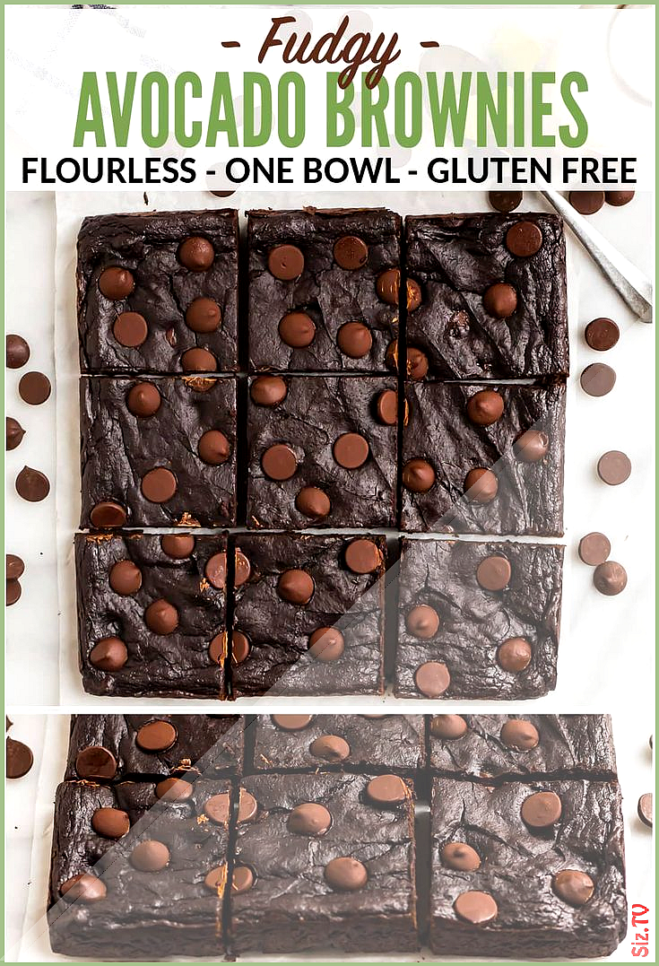 Fudgy Avocado Brownies Ultra moist and healthy with double the chocolate Glute Avocado Brownies Cho