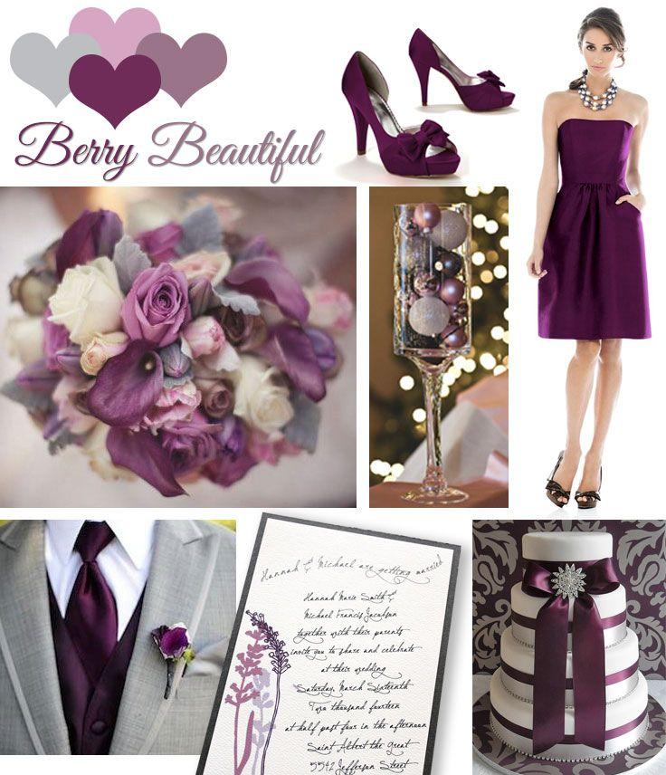 Winter Wedding Color Inspiration – Berry Beautiful. Get ...