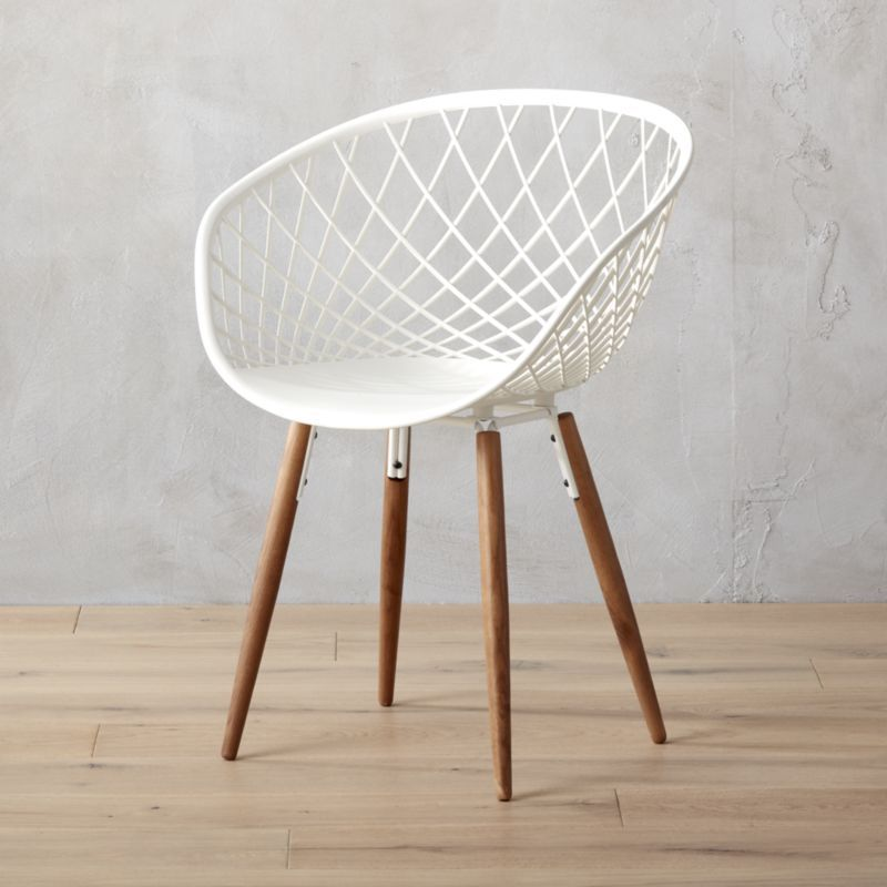 Sidera White Crosshatch Chair Reviews White Plastic Chairs