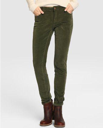 Pantalón pitillo de mujer Green Coast de pana  e03b3ba6c867