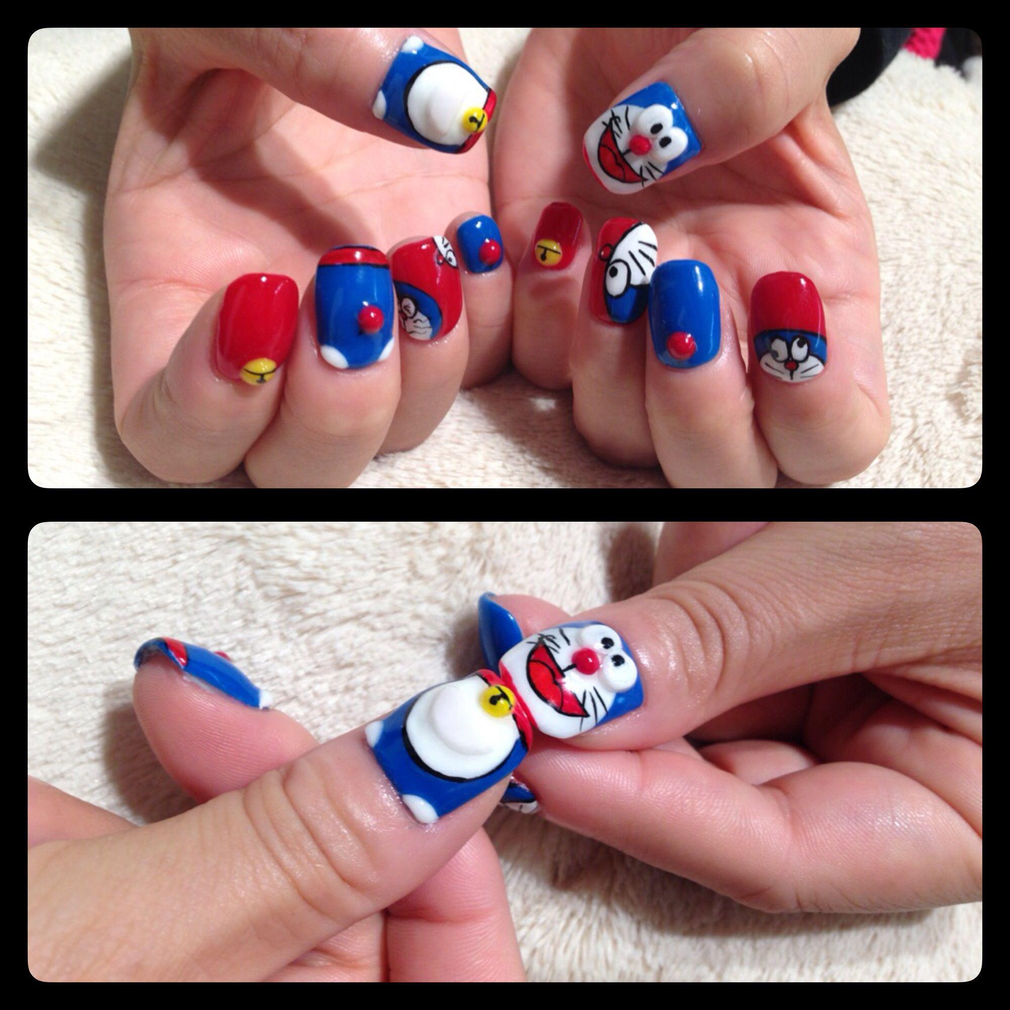 Doraemon Nails Ugh Nail It Pinterest Fun Nails