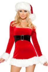 2PC Mrs Santa Claus Dress Costume