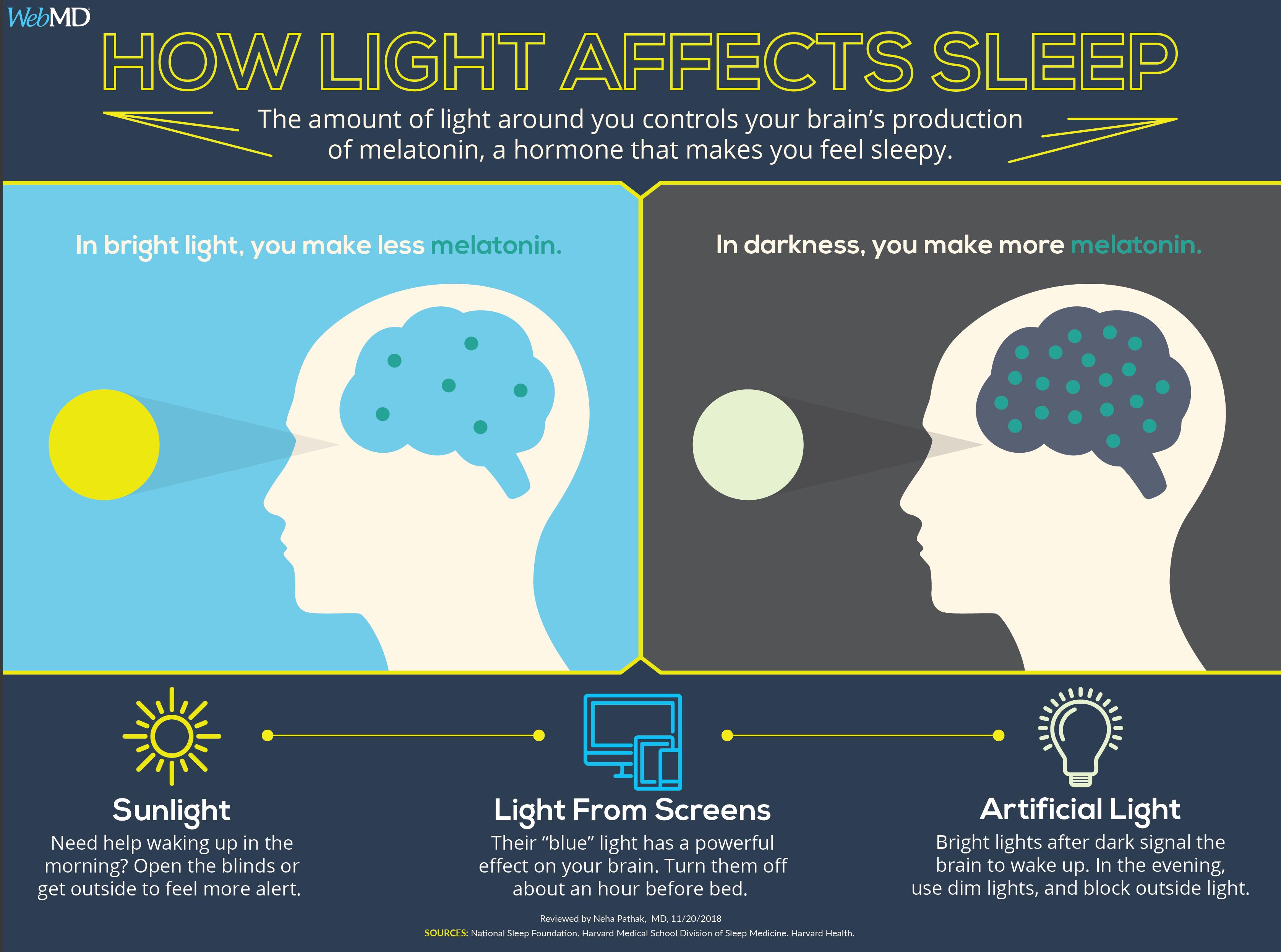 How Light Affects Your Sleep Feeling Sleepy Sleep Health Knowledge