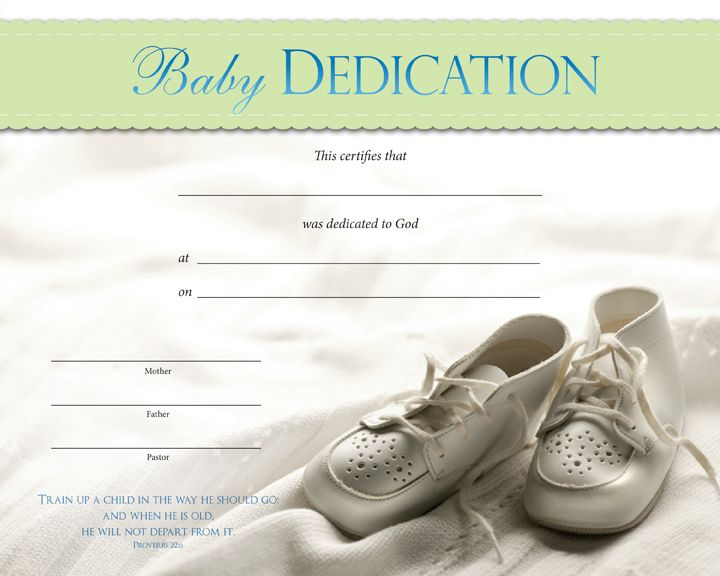 Baby Dedication Certificates  Baby Dedication Certificate  Other
