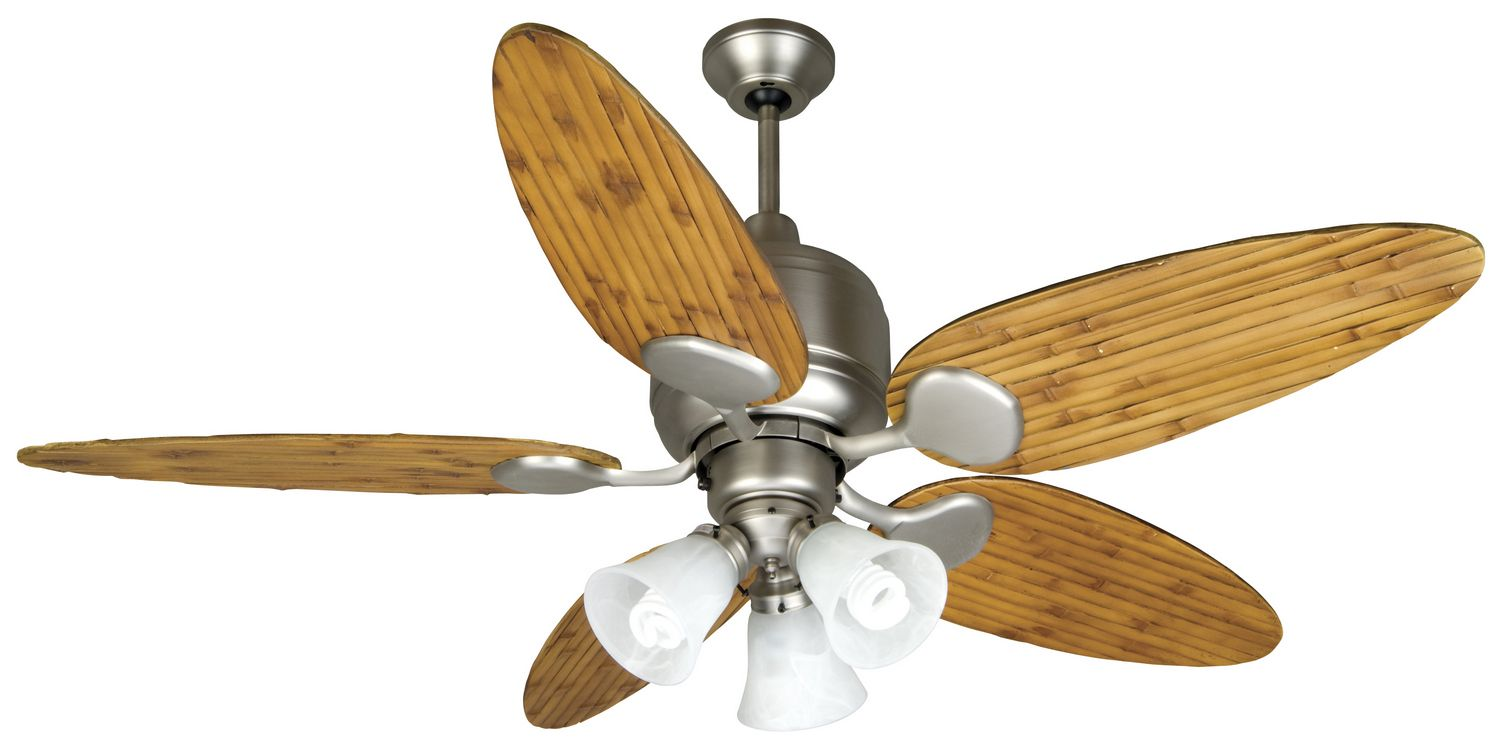 Metro Appliances And More Ceiling fan, Brushed nickel