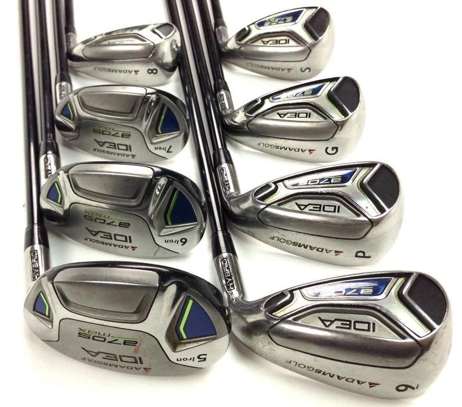 Adams Idea A7os Max Senior Iron Set 5 7 Hybrids 8 Sw 8pc Graphite Golf Clubs 229 99 These Adams Idea A7os Max Irons Have Light W Ironing Set Golf Clubs Iron