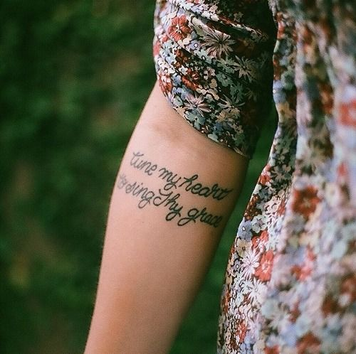 """I really like the message, would want a different design """"Tune my heart to sing thy grace"""""""