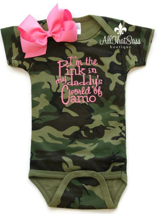 Baby Girl Camo Clothes Interesting Baby Girls Camo Outfit With Bow Camouflageallthatsassboutique Inspiration Design