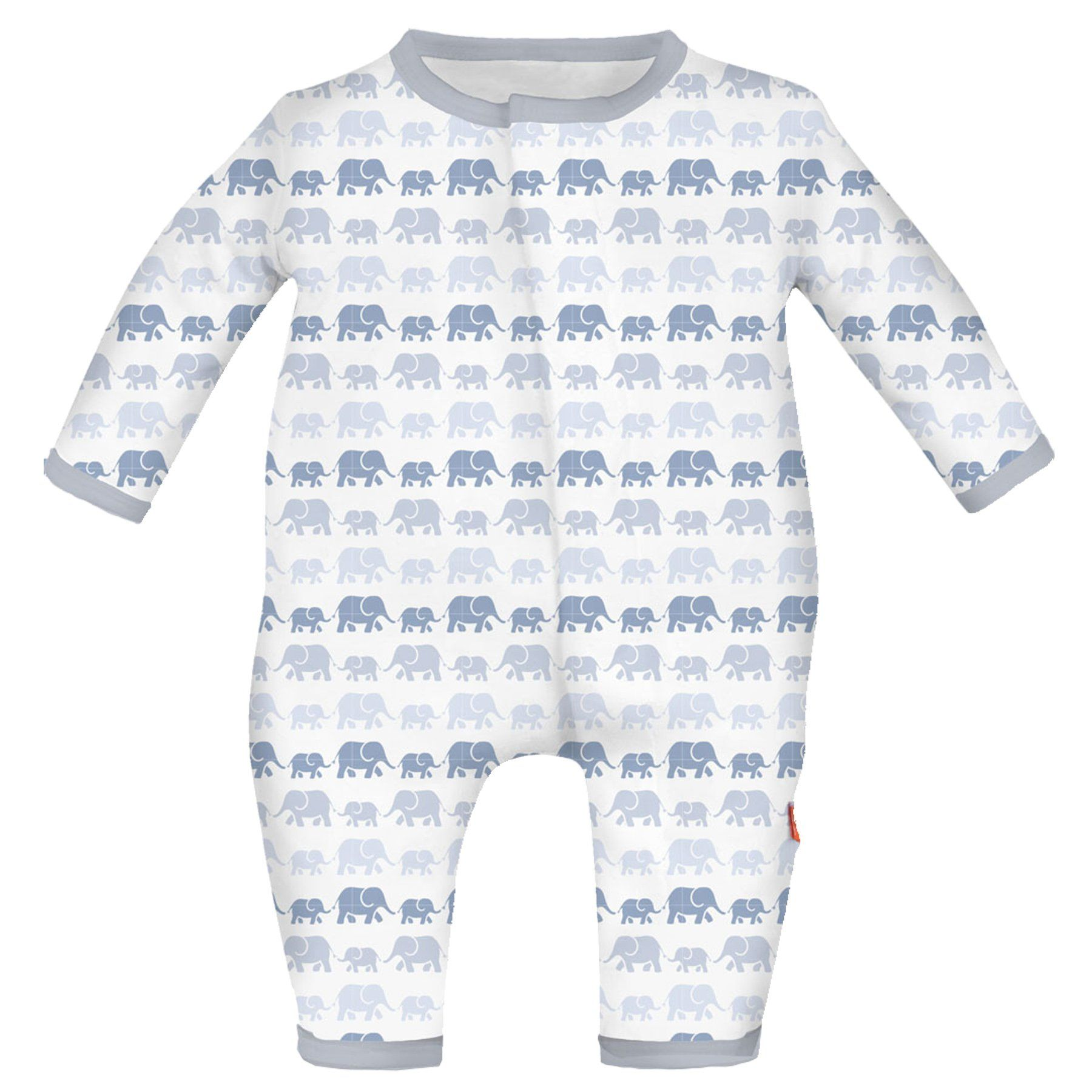 Magnetic Me Dancing Elephants Modal Coverall 3 6 Months Blue